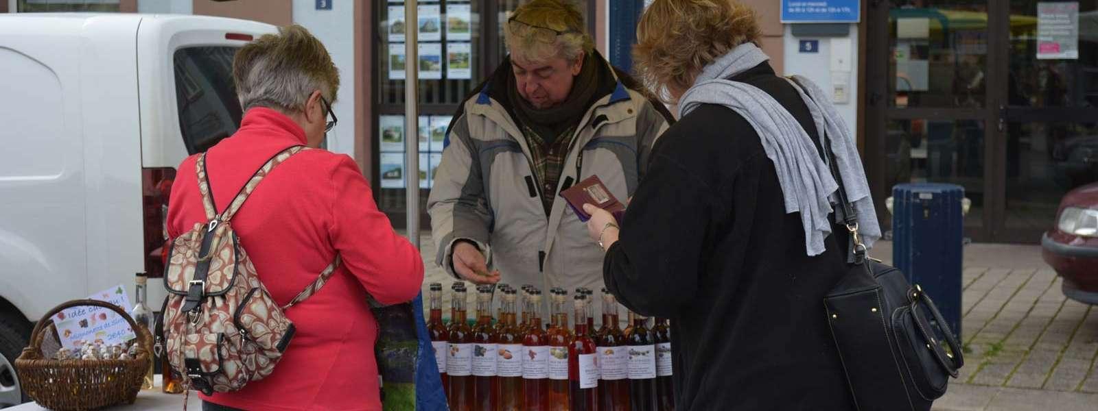 Marché du terroir et des produits équitables, Niederbronn-les-Bains, Alsace
