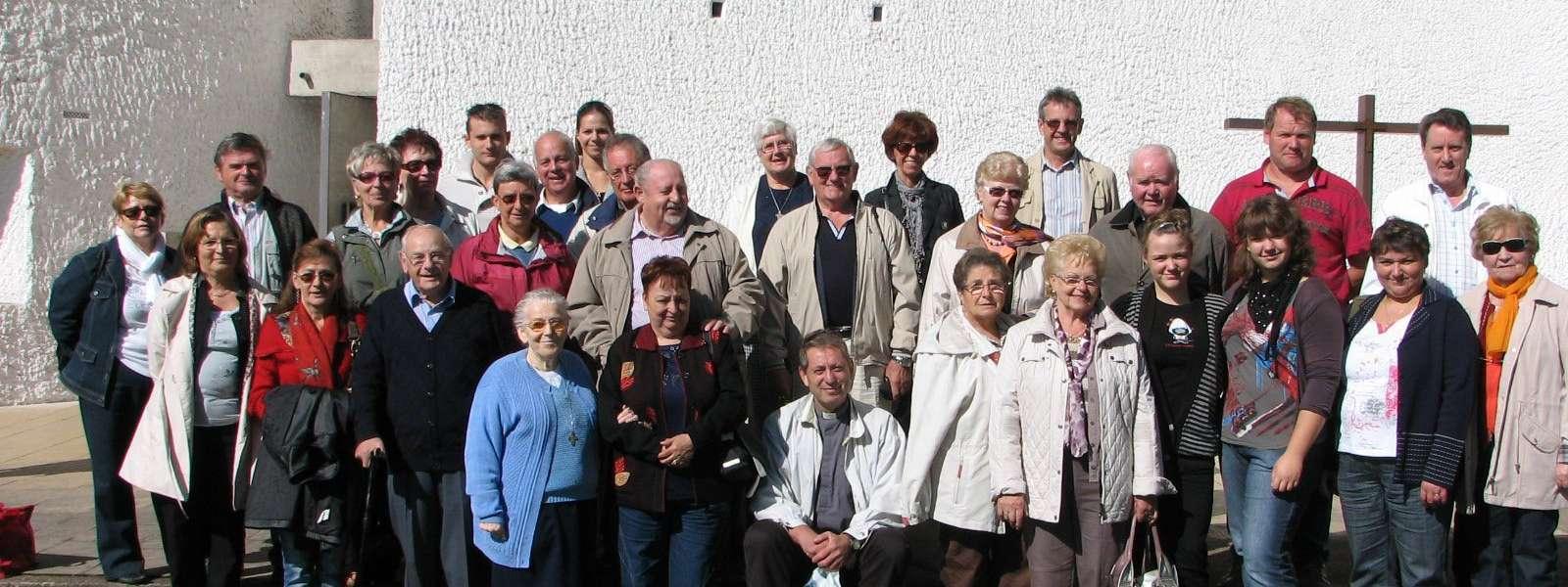 Les membres de la chorale Sainte-Cécile